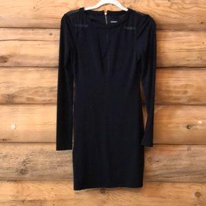 Express • XS. Black fitted mini black cute dress